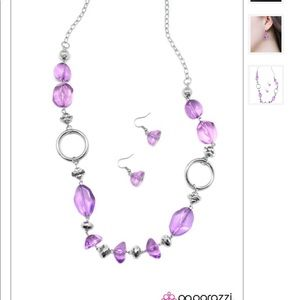 Paparazzi jewelry and accessories purple necklace